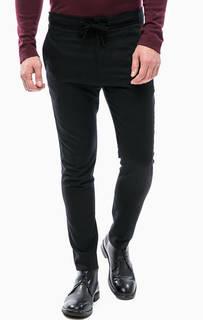 Черные шерстяные брюки на кнопке Drykorn