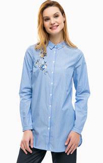 Туника-рубашка в полоску с вышивкой Comma