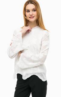 Блуза с цветочной вышивкой Comma