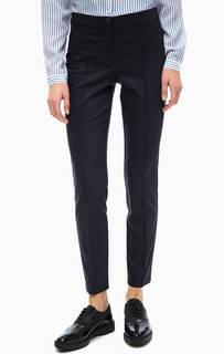 Синие хлопковые брюки Comma