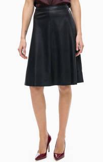 Расклешенная юбка темно-синего цвета Comma