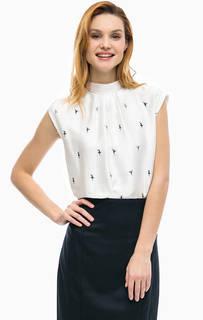 Блуза с трикотажной спинкой Comma