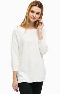 Трикотажный свитер с разрезами по бокам Comma