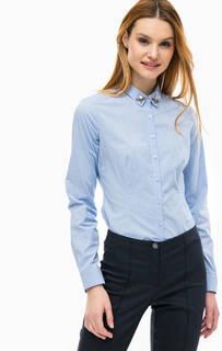 Приталенная рубашка со съемным воротничком Comma