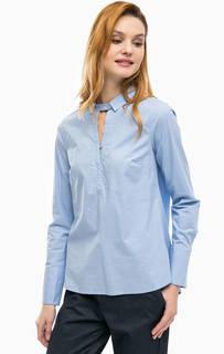 Блуза из хлопка синего цвета Comma