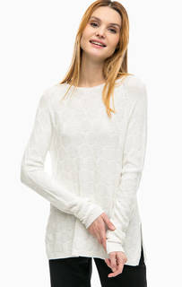 Трикотажный свитер молочного цвета Comma