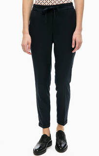 Синие трикотажные брюки на резинке Comma