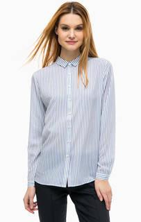 Блуза в полоску с отложным воротничком Comma
