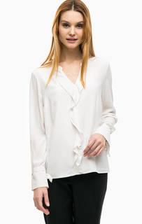 Блуза свободного кроя с воланом Comma