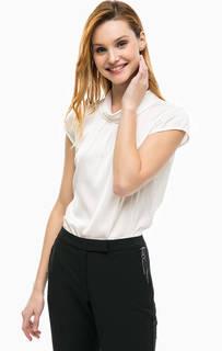 Молочная блуза с короткими рукавами Comma