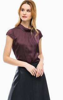 Бордовая блуза с короткими рукавами Comma