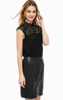 Кружевная блуза черного цвета Comma