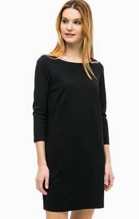Черное платье с рукавами 3/4 Comma