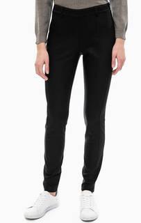 Хлопковые брюки с резинкой на поясе Comma