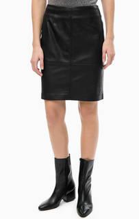 Короткая черная юбка Comma