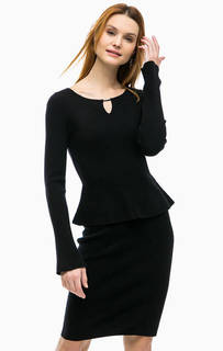 Трикотажное платье с баской Comma
