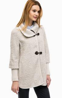Пальто молочного цвета с манжетами Comma