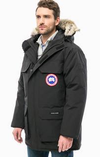 Черная парка-пуховик Expedition Parka с меховой отделкой Canada Goose