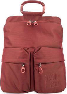 Красный текстильный рюкзак с одним отделом Mandarina Duck