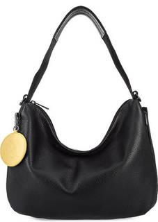 Черная кожаная сумка с длинной ручкой Mandarina Duck
