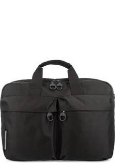 Серая текстильная сумка с двумя отделами Mandarina Duck