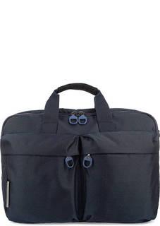 Синяя текстильная сумка с двумя отделами Mandarina Duck