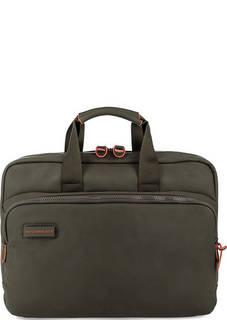 Вместительная сумка цвета хаки с одним отделом Mandarina Duck