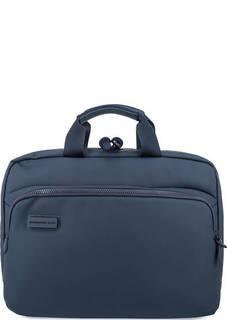 Вместительная синяя сумка с одним отделом Mandarina Duck