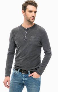 Серая хлопковая футболка с карманом Pepe Jeans