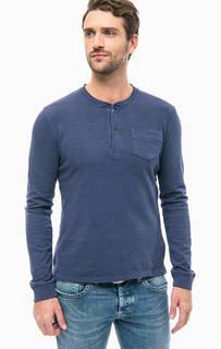 Синяя футболка с длинными рукавами Pepe Jeans