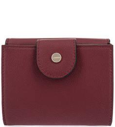 Кошелек бордового цвета с одним отделом для купюр Calvin Klein Jeans