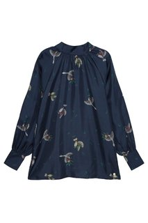 Шелковая блузка с птицами Akhmadullina Dreams