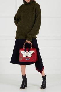 Красная сумка с перламутровым декором Gucci