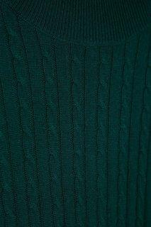 Зеленое платье из шерстяного трикотажа Addicted