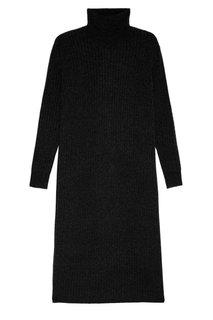 Черное платье из шерстяного трикотажа Addicted