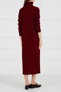 Бордовое платье из шерстяного трикотажа Addicted