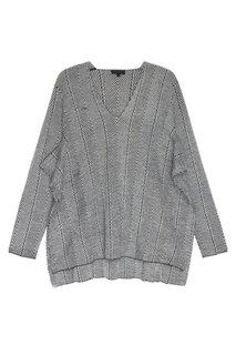 Пуловер из шерстяного трикотажа Adolfo Dominguez