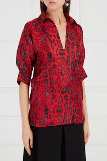 Красная блузка из шелка Adolfo Dominguez