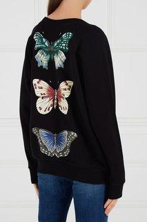 Хлопковый свитшот с вышивкой пайетками Gucci