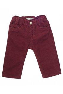 Вельветовые брюки бордовые Bonpoint