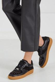 Черные кроссовки с заклепками RED Valentino