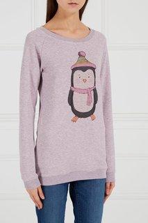 Хлопковый свитшот «Пингвин розовый» Lisa&Leo
