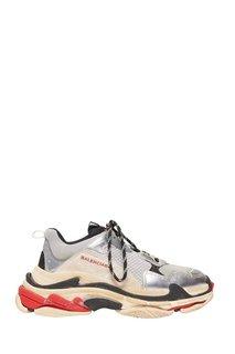 Комбинированные серые кроссовки Triple S Balenciaga