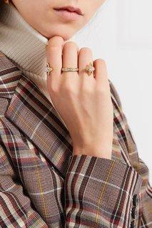 Тройное кольцо с цирконами Vivienne Westwood