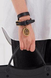 Кожаный браслет с медальоном Alexander Mc Queen