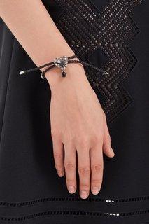 Кожаный браслет с сердцем Alexander Mc Queen