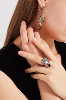 Кольцо-сердце с гравировкой Alexander Mc Queen