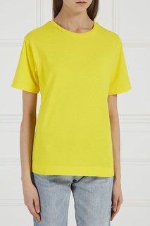 Желтая хлопковая футболка Blank.Moscow
