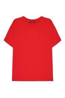Красная хлопковая футболка Blank.Moscow