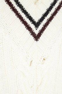 Пуловер с косами No.21